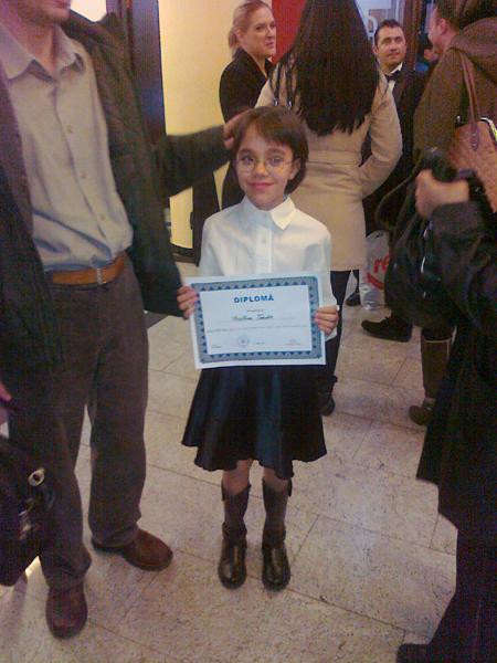 Cristina in Corul de Copii al Filarmonicii