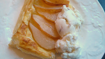 Pear and Ginger with Ice cream