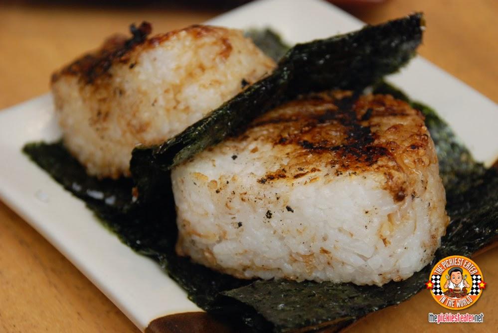 grilled rice, yaki onigiri