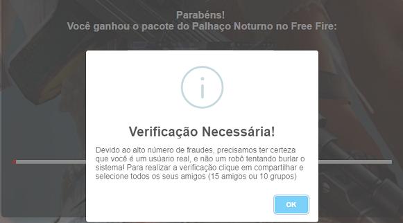Pacote do palhaço noturno de graça site falso