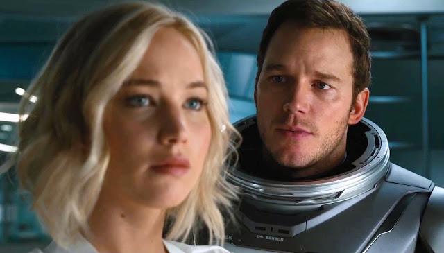 Passageiros Jennifer Lawrence e Chris Pratt