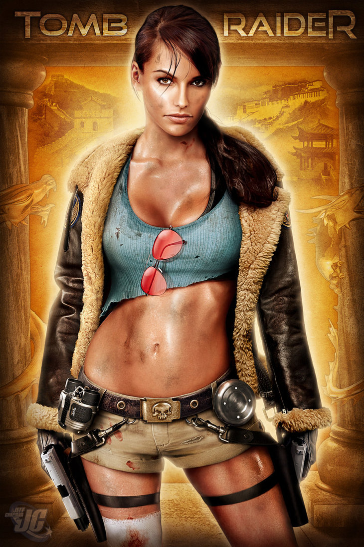 The sexy lara croft has found herself in another sexual adventure 8