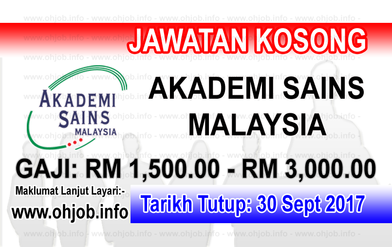 Jawatan Kerja Kosong ASM - Akademi Sains Malaysia logo www.ohjob.info september 2017