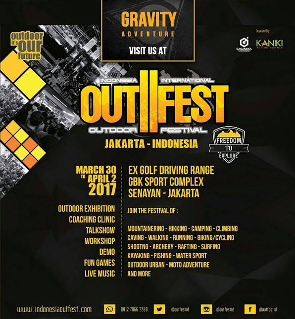 Gravity Adventure  at Indonesia International Outdoor Festival OUTFEST