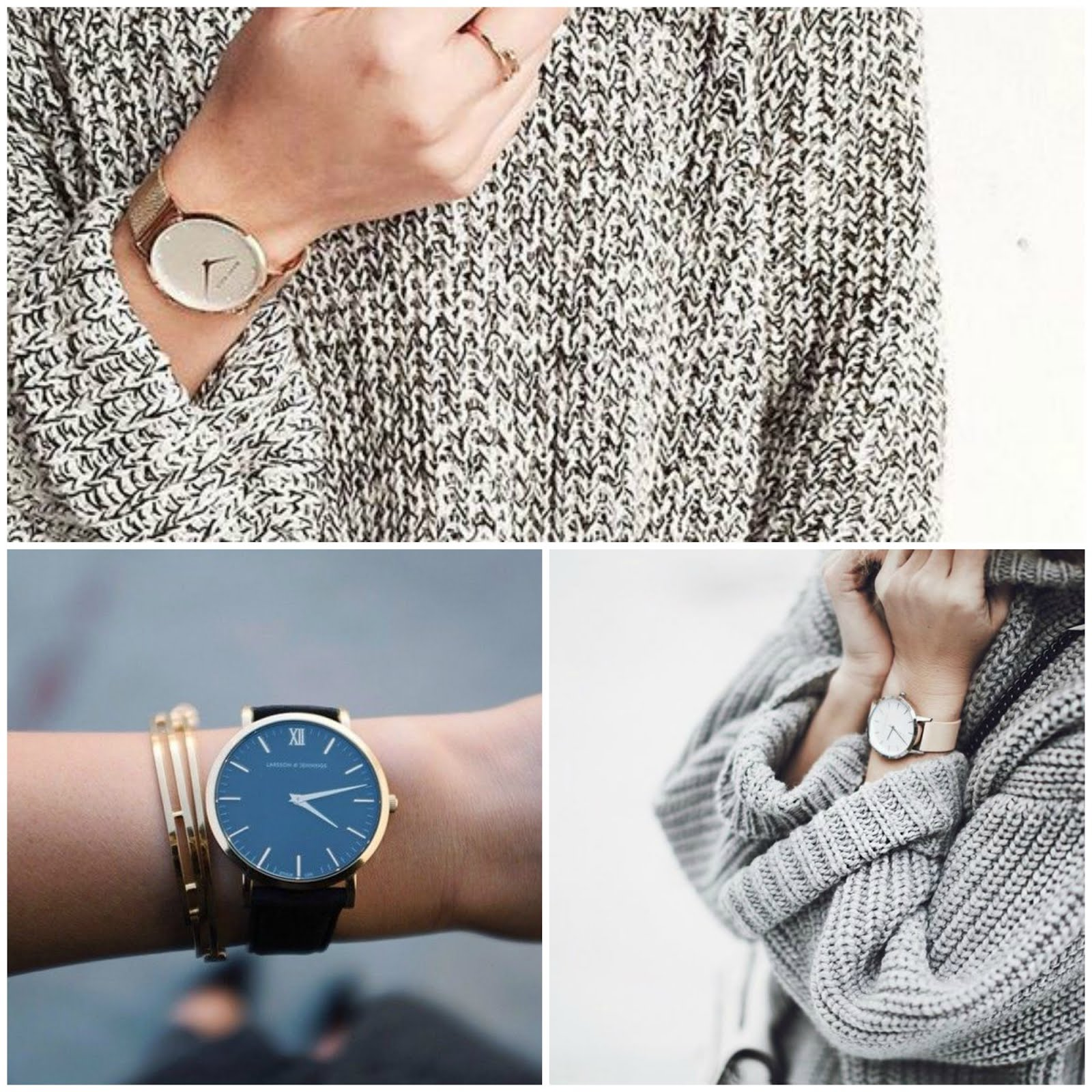 Pinterest: Cozy Knits + Big Watches