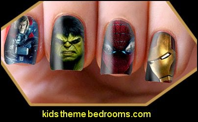 Superhero Nail Art Decals Transfers Wraps Foils Nails