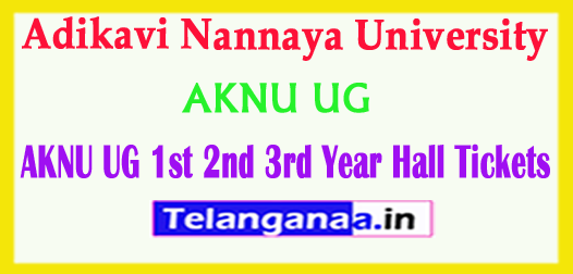 AKNU UG Adikavi Nannaya University 1st 2nd 3rd Year 2018 Hall Tickets Download