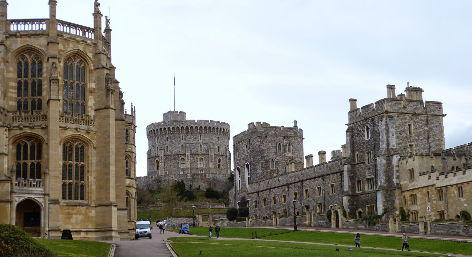 Lower Ward, Windsor Castle, showing St George's Chapel on the left