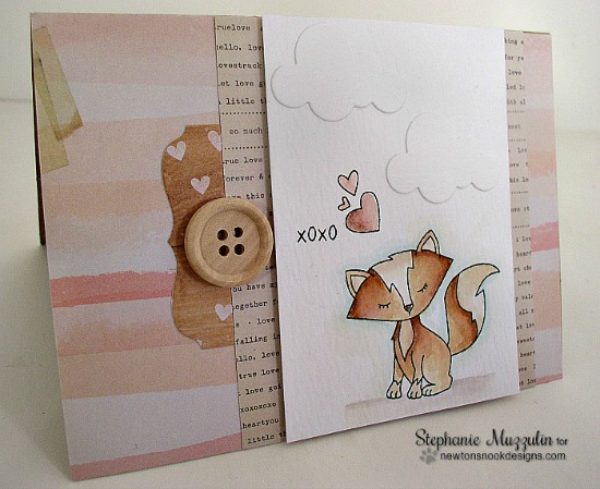 Foxy Valentine Card by Stephanie Muzzulin | Sweetheart Tails Stamp Set by Newton's Nook Designs #newtonsnook