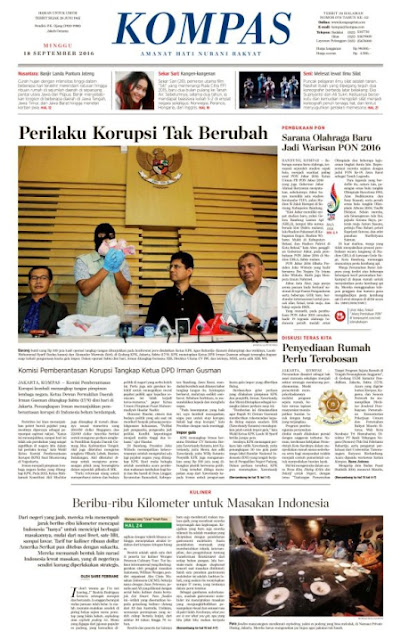 Kompas Edisi Minggu 18 September 2016