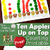 Ten Apples Up On Top: Counting Printable Activity