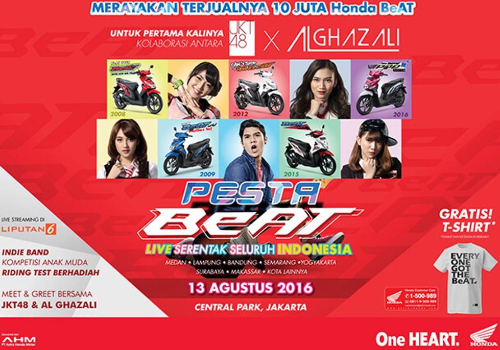 Wah . . bakalan ada launching New Honda Beat di Pesta Beat tanggal 13 Agustus nanti ?