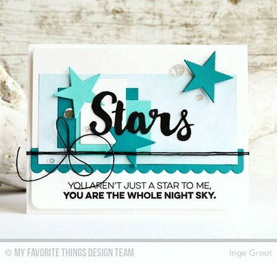Handmade card from Inge Groot featuring Laina Lamb Design Count the Stars stamp set and Die-namics and Blueprints 4 Die-namics #mftstamps