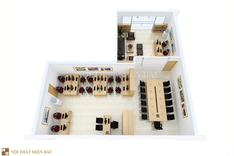 Thiết kế thi công nội thất với sự phân chia không gian hợp lý