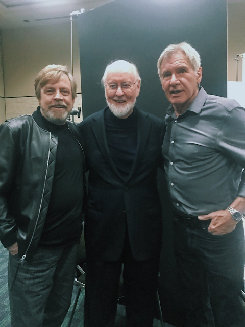 Mark Hamill, John Williams & Harrison Ford at the 2017 Star Wars Celebration in Orlando.