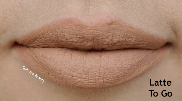 rimmel london stay matte liquid lip color review swatches 710 latte to go