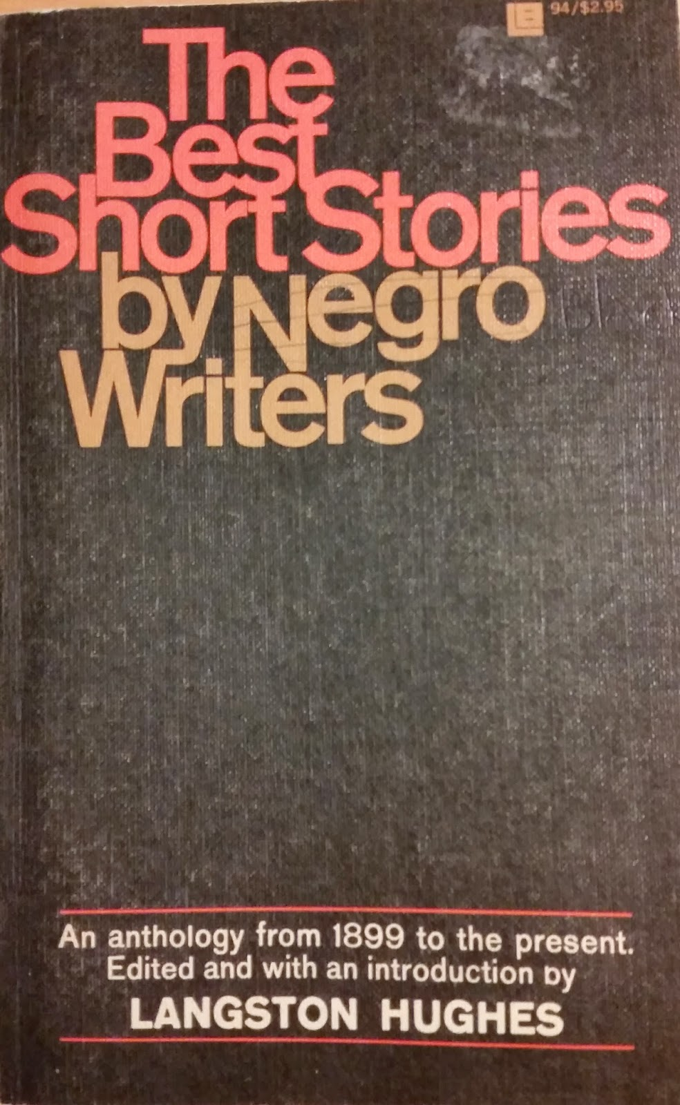 Book cover to The Best Short Stories by Negro Writers - Langston Hughes.