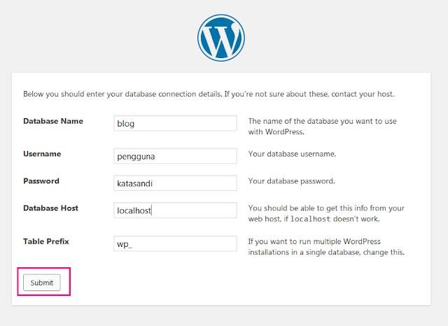 Cara Memasang Wordpress Di XAMPP 20