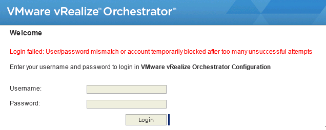 Just Another IT blog: Unlock vRealize Orchestrator default