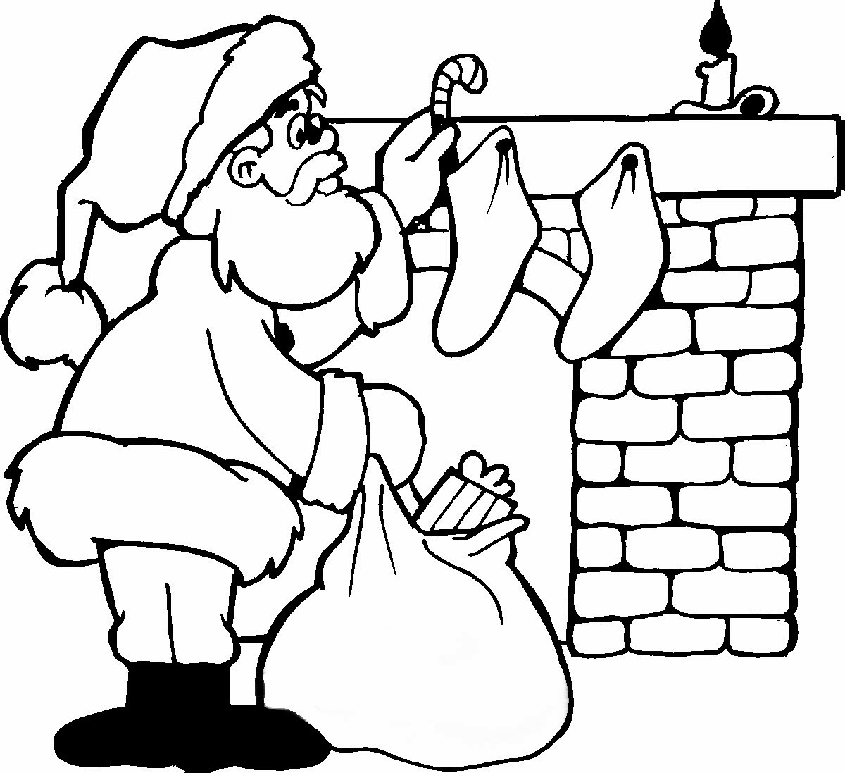 coloring pages christams - photo#48