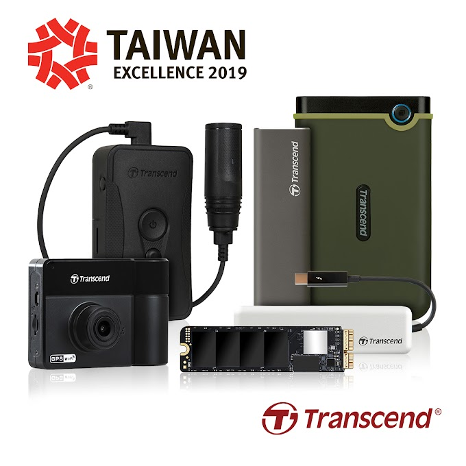 Transcend Awarded with Five Taiwan Excellence Awards 2019