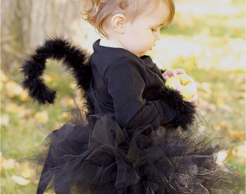 how to make a cat costume for little girl the cutest halloween costume & do it yourself as: DIY: Black Cat Costume