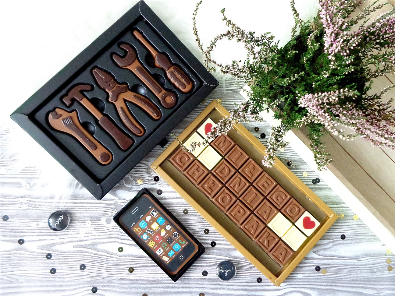 zdjęcie przedstawiające czekoladki na dzień chłopaka