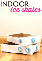 Indoor Ice Skates proprioception and vestibular sensory play activity