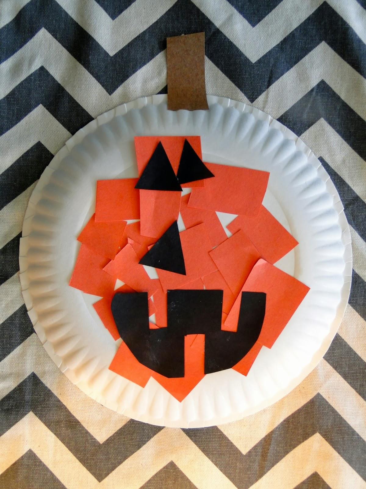 easy halloween paper plate crafts pumpkin