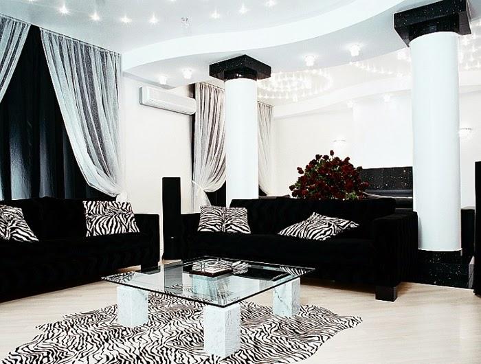 zebra modern living room ideas 2020 | Black and White Living Room ~ GOODIY
