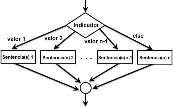 como representar switch en un diagrama de flujo
