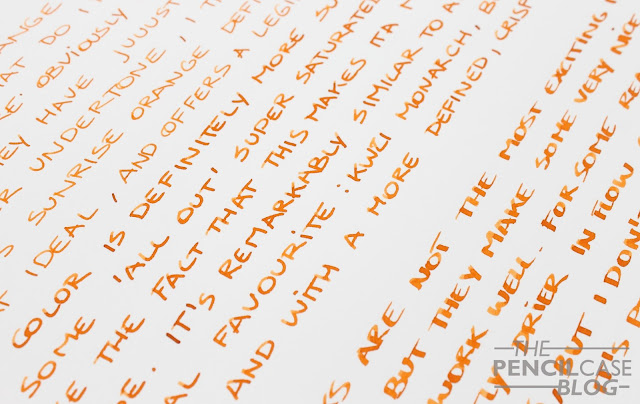 Inktastic: Kaweco Sunrise Orange ink review