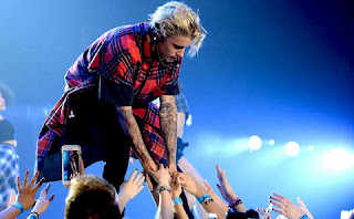 Justin Bieber in DY Patil Stadium.