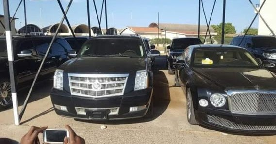 Photos Of The Seized Luxury Cars That Reportedly Belong To