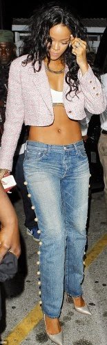 article 0 1CF569D600000578 121 634x1043 Photos: Rihanna proves shes not pregnant..for either Chris or Drake