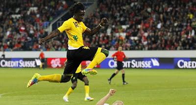 El delantero Darren Mattocks una de las estrellas de Jamaica en la Copa de Oro 2015