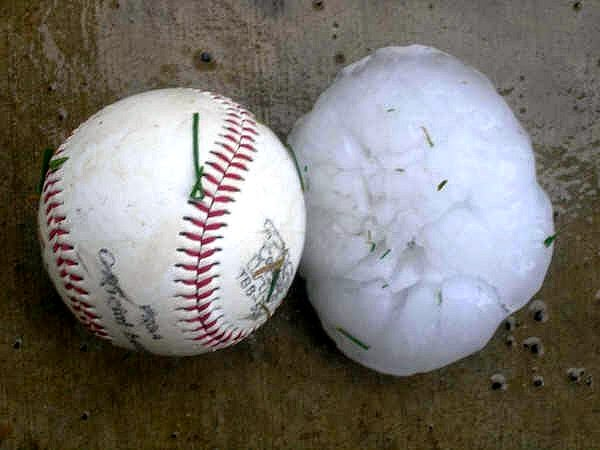 baseball size hail