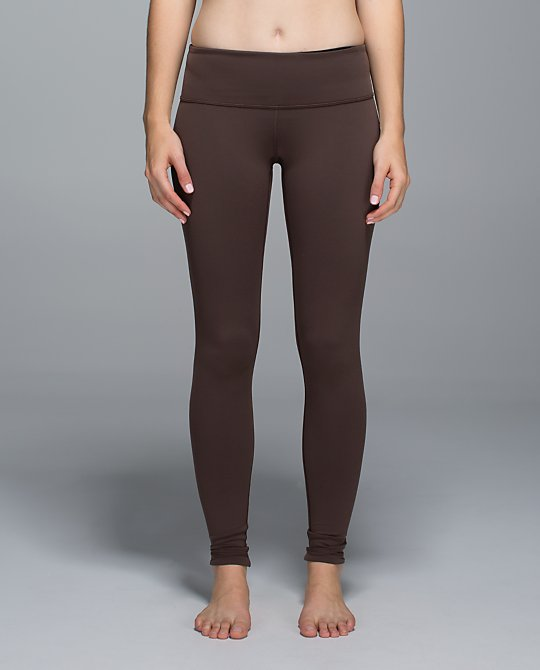 lululemon bark chocolate wunder under pant