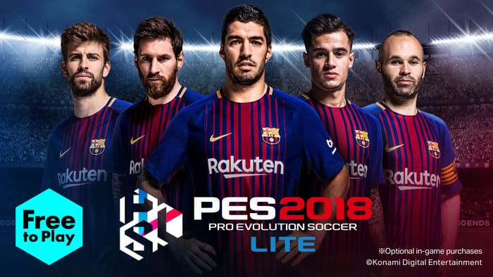 لعبة كرة القدم Pro Evolution Soccer 2018 Lite