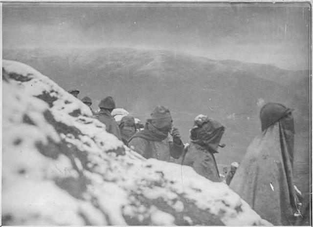Battle of 19 March 1917 north of Bitola (Monastir). An attack takes place on the hill 1248