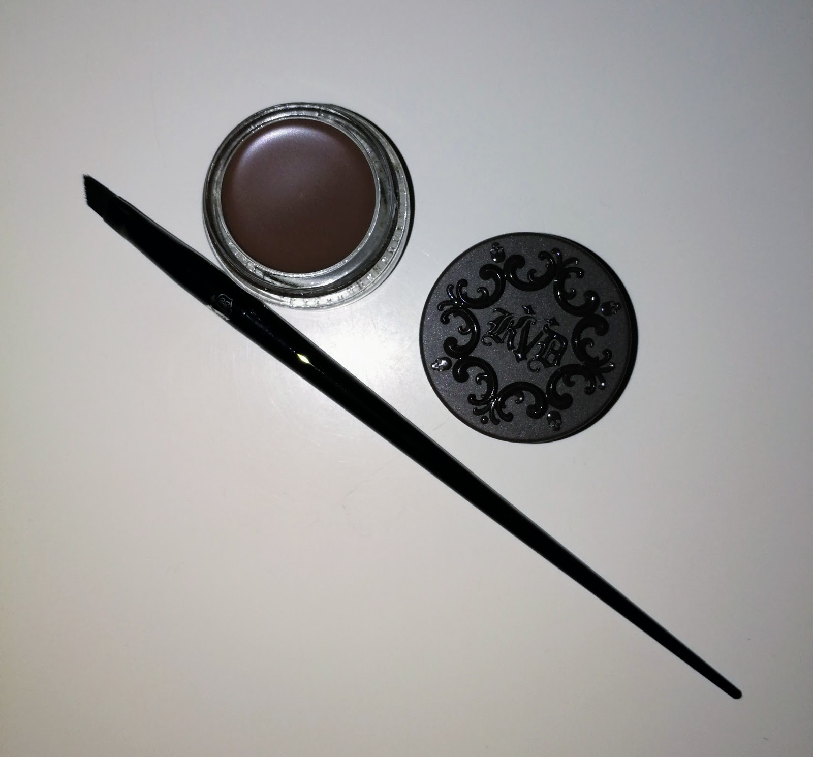 Kat Von D 24-Hour Super Brow Long-Wear Pomade Medium Browm, Kat Von D #70 Pomade Brow Brush