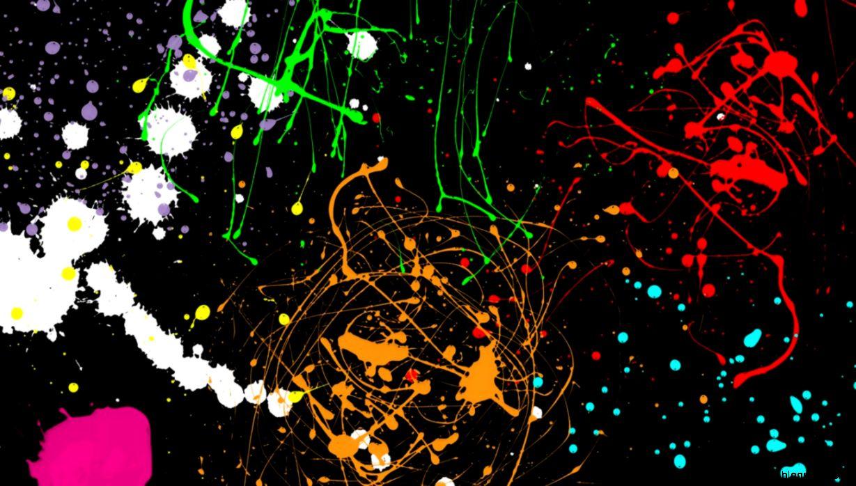 Neon Paint Splatter Backgrounds | Wallpapers Gallery