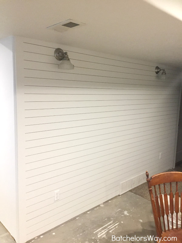 Batchelors Way: Easy Ship lap or Planked Wall - Basement Project