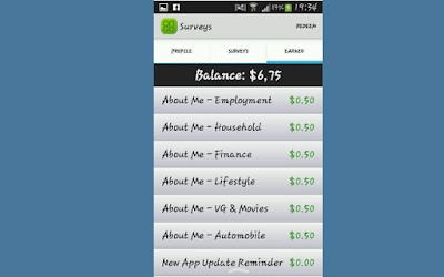تطبيق  لربح المال بعمل استطلاعات دورية