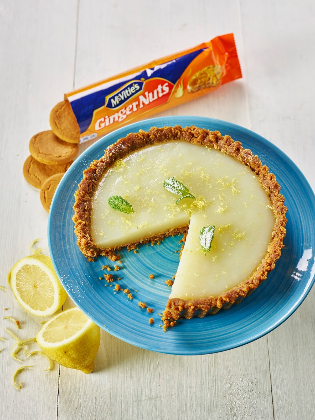 McVitie's Ginger Nuts and Lemon Crunch Vegan Tart