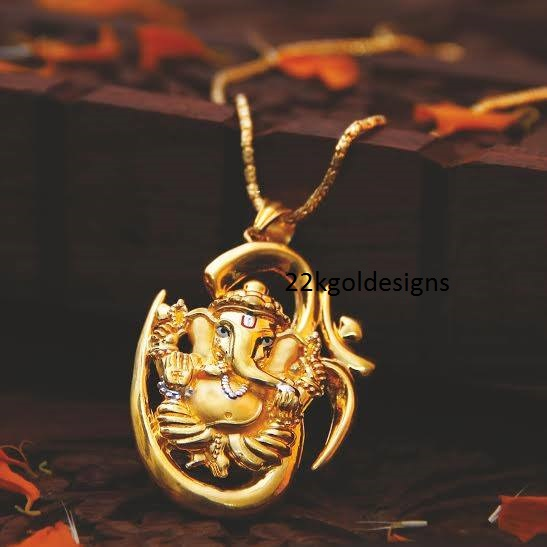 22kgolddesigns page 253 of 329 the latest in jewellery designs divine lord ganesha pendant mozeypictures Gallery