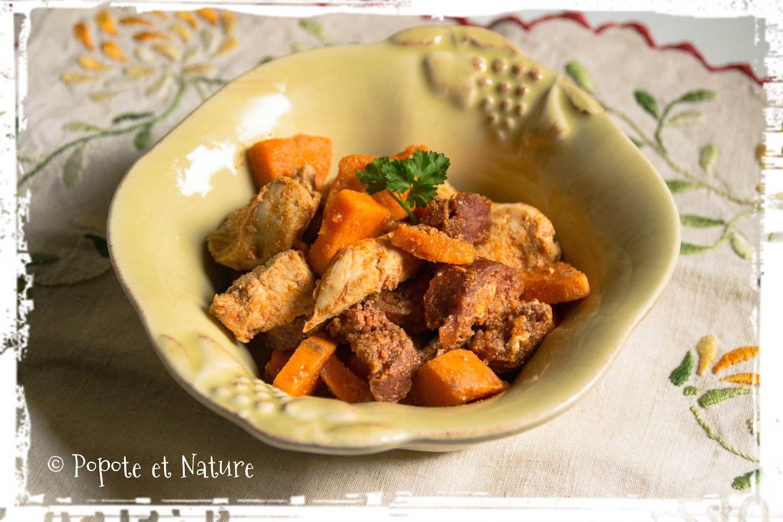 Popote et nature une fricass e de poulet aux parfums riches de l 39 espagne - Quand recolter les patates douces ...