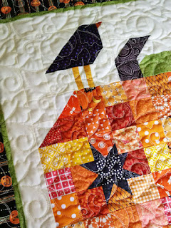 patchwork pumpkin table topper: QuiltBee