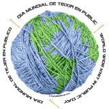 logo del dia mundial de tejer en publico