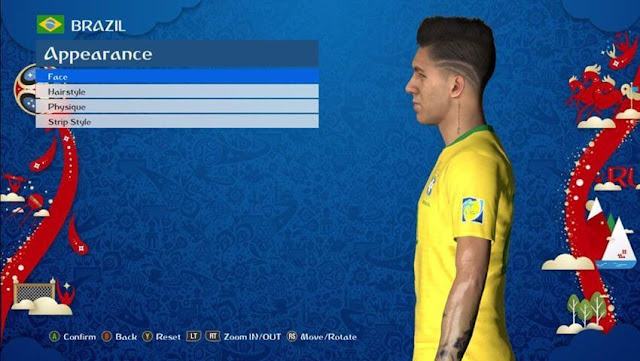 Roberto Firmino New Hairstyle PES 2017